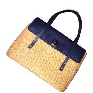 Kate Spade New York Clara Wicker Handbag Navy